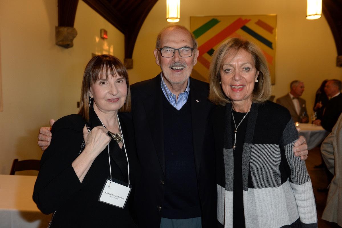 Dr. Katherine Siminovitch with National Arts Centre President & CEO, Peter Herrndorf and Eva Czigler