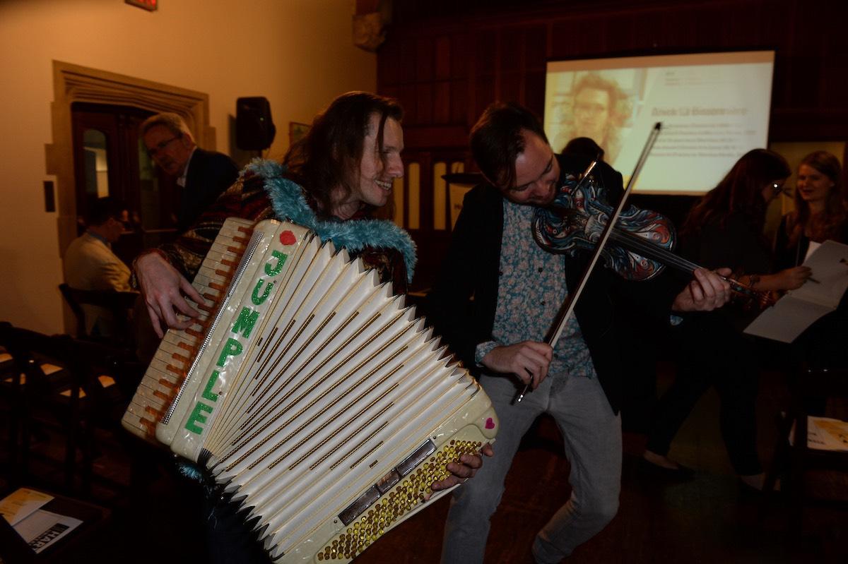 Musicians Dr. Eugene Draw and Kirill Fondler