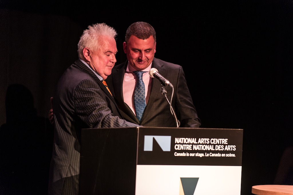 Bob White and recipient Marcus Youssef